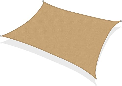 KHOMO GEAR Rectangular Sun Shade Sail 12 x 16 Ft UV Block Fabric