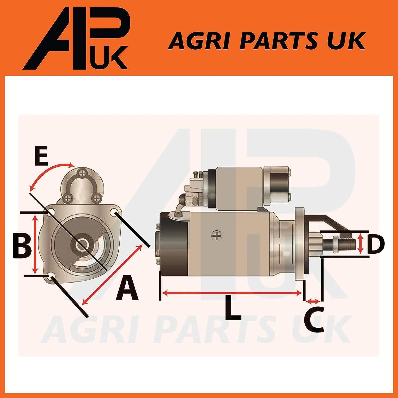 APUK 12V Starter Motor 2.8KW fits Massey Ferguson 3075 4215 4220 4225 4235 4245 Tractor
