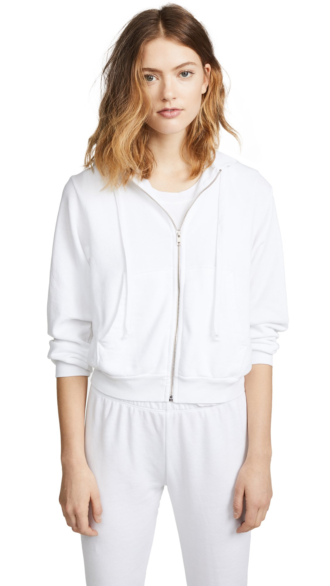 Wildfox Women's Bride Zip Up Hoodie, Clean White, Large
