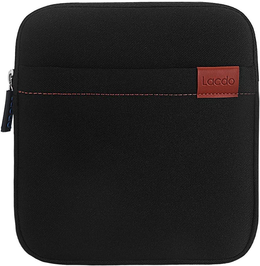 Lacdo Waterproof External USB CD DVD Writer Blu-Ray Protective Storage Carrying Case Bag Compatible Apple MD564ZM/A SuperDrive,Magic Trackpad, Samsung/LG / Dell/ASUS / External DVD Drives, Black