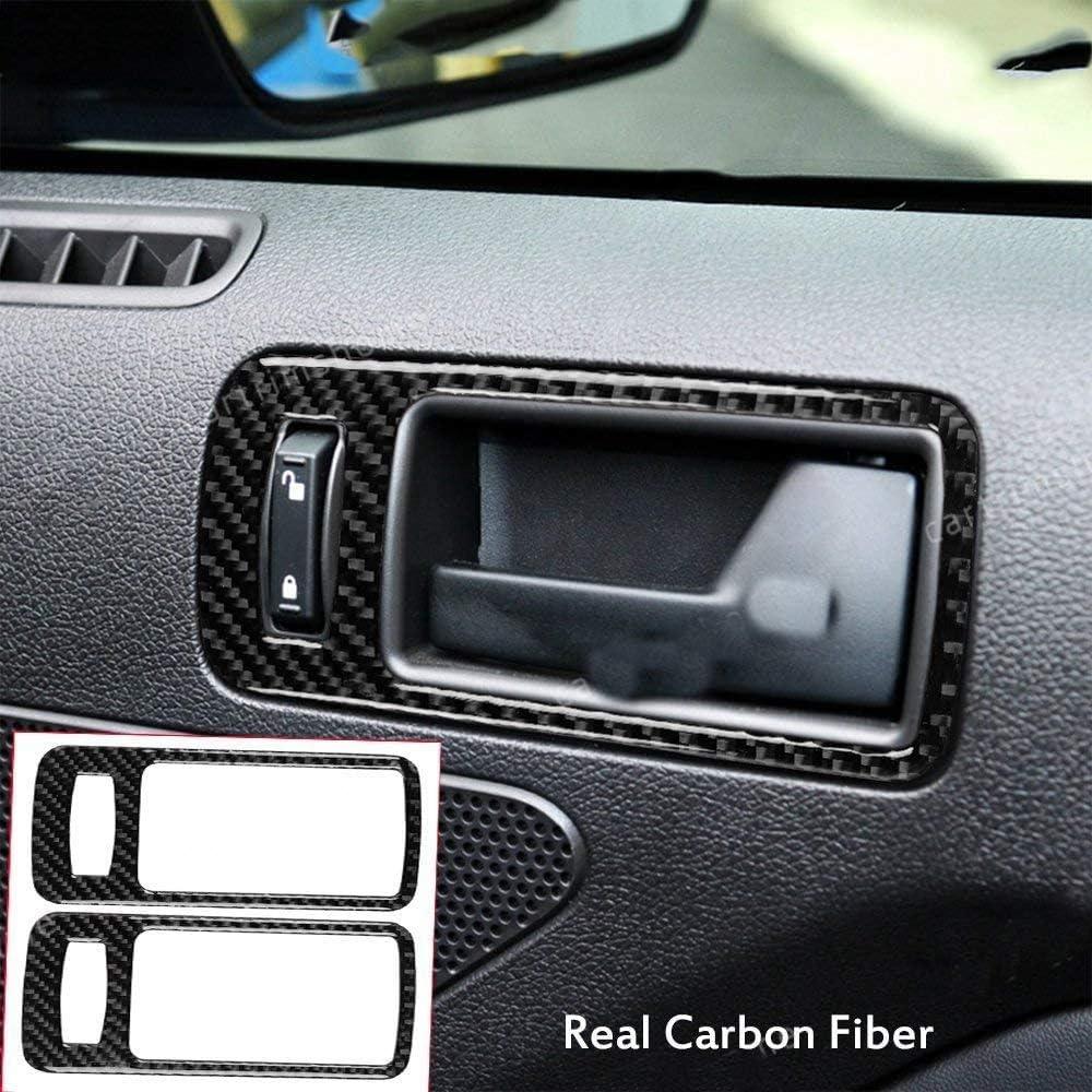 Nrpfell Auto Carbon Faser Innen T/üR Griff Sch/üSsel Rahmen Abdeckung Auspuff Entl/üFtung Dekoration Aufkleber f/ür Mustang 2009-2013