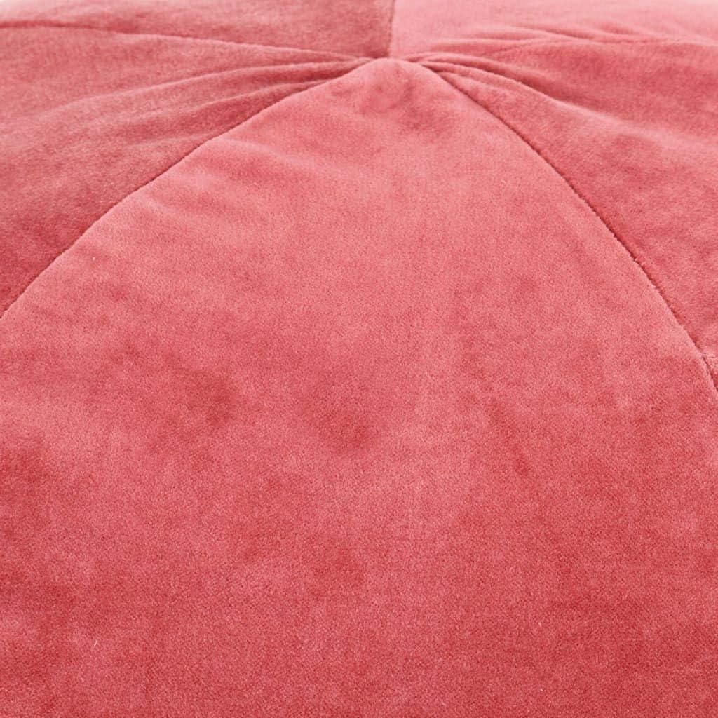 FAMIROSA Poufs Velours de Coton 50 x 35 cm Rose