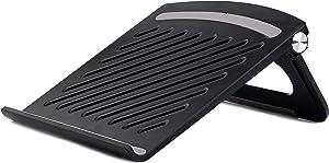 EWQREWR Laptop Stand for Desk,Adjustable Portable Laptop Holder,Foldable Ventilated Desktop Holder Compatible with MacBook Air Pro, Dell XPS, HP,Laptops Under 17'' (Black)
