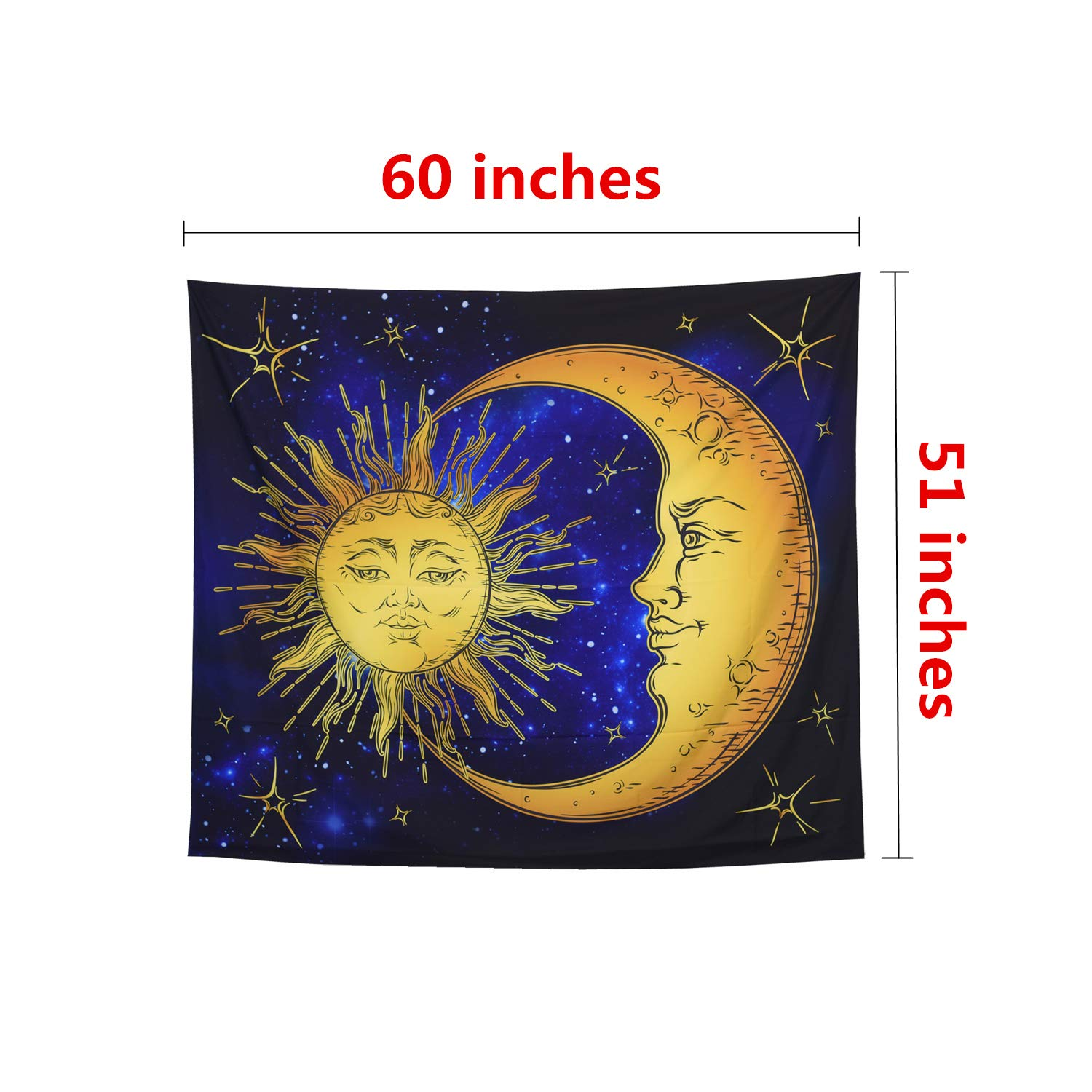 ECONIE Cat Tapestry Wall Hanging Tapestry Wall Art Decor Beach Throw Table Runner//Cloth 51 x 60Inches 10