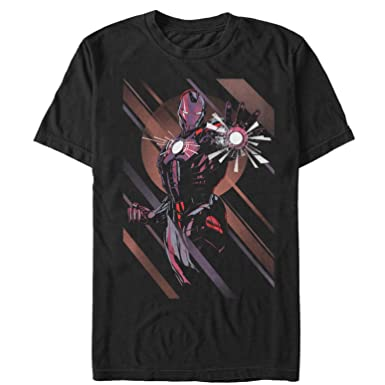 049d4a27bb Amazon.com  Marvel Men s Iron Man Heart T-Shirt Black  Clothing