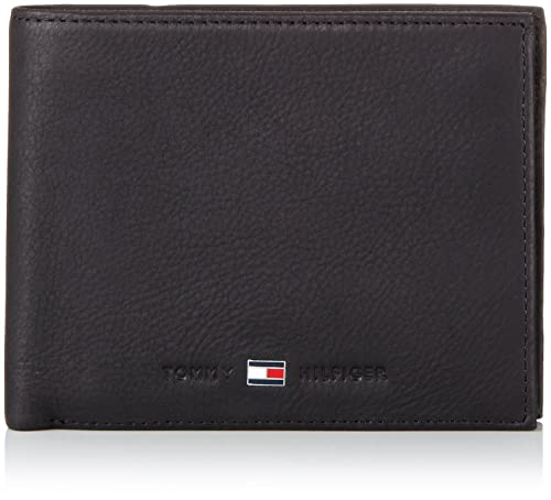 Tommy Hilfiger Johnson Trifold - Cartera para Hombre, Color Black 990, Talla 13x10x3 cm
