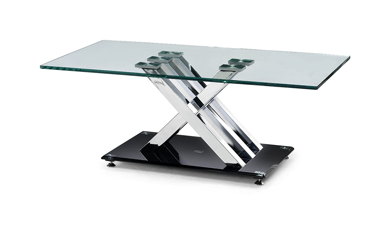 Julian Bowen XFrame Chrome and Glass Coffee Table Amazoncouk