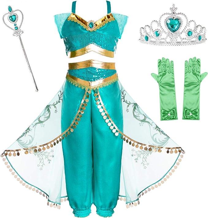 Amazon.com: Joy Join Disfraz de princesa Jasmine para niñas ...
