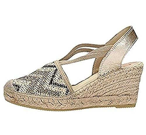 d1875f1798 Vidorreta 18400 Espadrillas Zeppa in Corda Glitter: Amazon.it ...