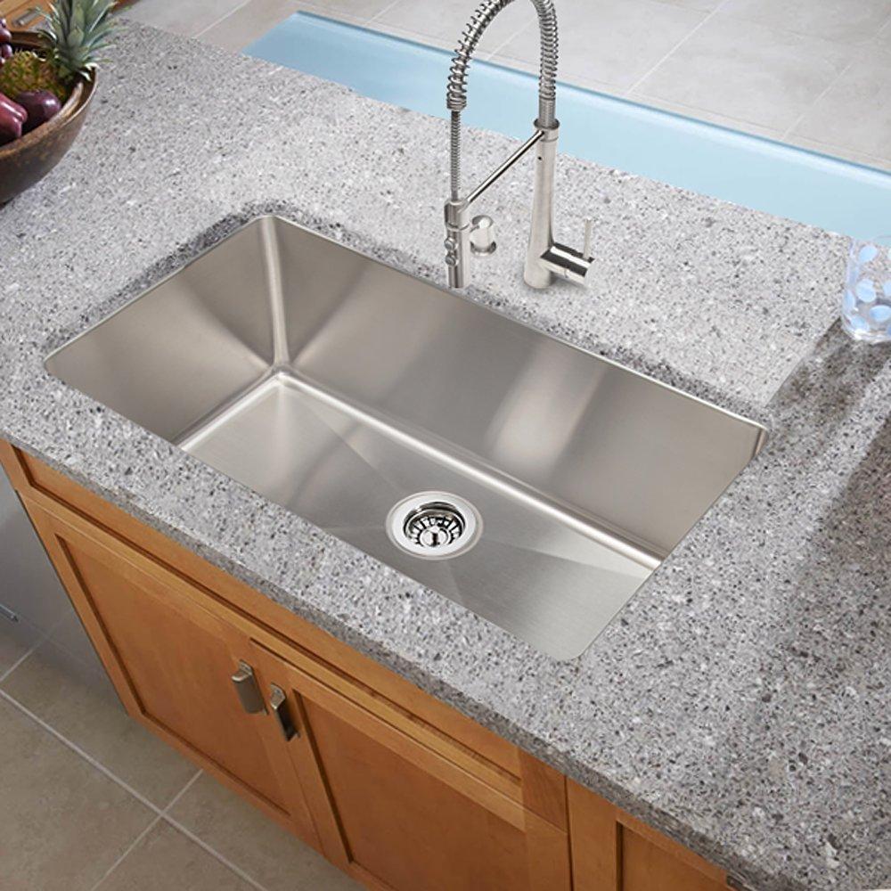 Large Bowl Kitchen Sink Hahn handmade zr003 30 inch undermount single bowl amazon workwithnaturefo