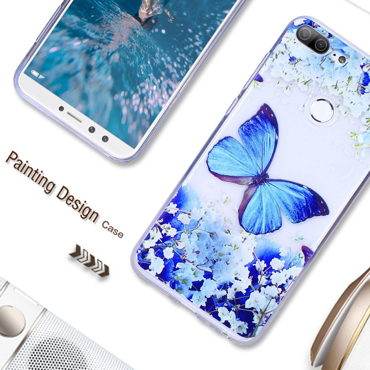 Yokata Kompatibel mit Huawei Honor 9 Lite H/ülle Silikon Transparent Durchsichtig Handyh/ülle Schutzh/ülle TPU D/ünn Slim Kratzfest mit Motiv 3 Pack Mandala M/ädchen und Schmetterling Windm/ühle