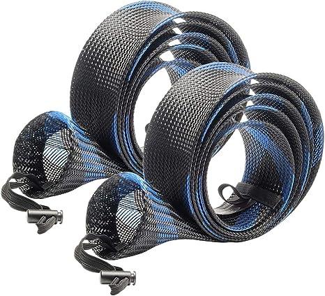 SF - Funda para caña de Pescar (Malla Trenzada, para caña de Pescar), For Spinning Rods up to 7-1/2 ft, New Blue/2PCS: Amazon.es: Deportes y aire libre