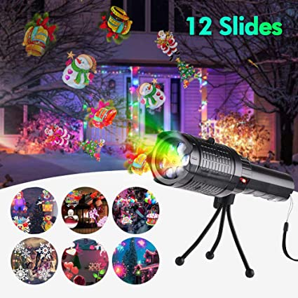 Commercial Lighting Lights & Lighting 12 Pattern Projection Flashlight Music Snowflake Lights Christmas Halloween Birthday Home Party Led Light Outdoor Landscape Lamp