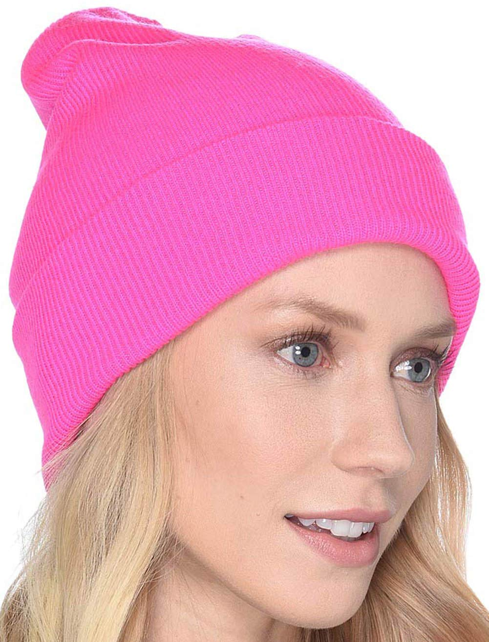 UGG Women's Luxe Knit Cuff Beanie Bright Pink One Size