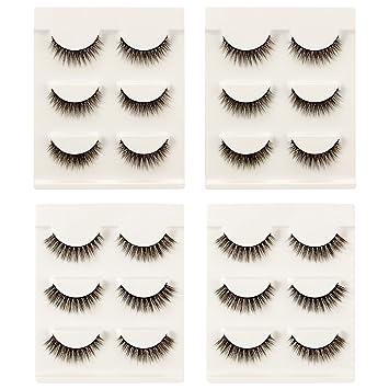 452d8132241 Amazon.com : MADHOLLY 12 Pairs Light and Soft Eyelashes Natural Looking and  Fluffy Fake Eyelashes- Daily Wear : Beauty