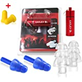 Noise cancelling ear plugs - safety ear plugs - high fidelity ear plugs with best ear plugs noise reduction - custom construction ear plugs for sleeping - music ear plugs - hearing protection earplugs