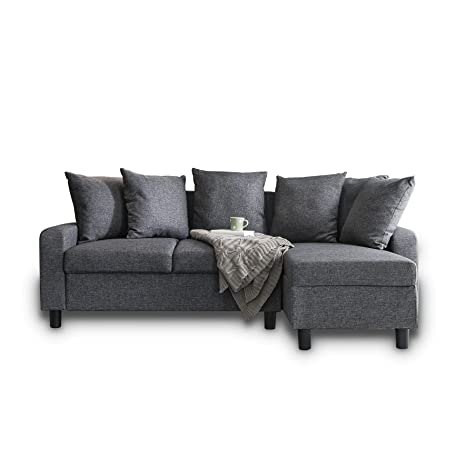 Laura James Corner Sofa Left & Right Hand Side (Grey)