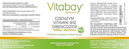 Coenzima - Vitamina B12 - Dibencozida 10,000 mcg - 30 tabletas - dosis altas
