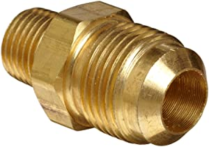 "Anderson Metals Brass Tube Fitting, Half-Union, 3/8"" Flare x 1/4"" Male Pipe"