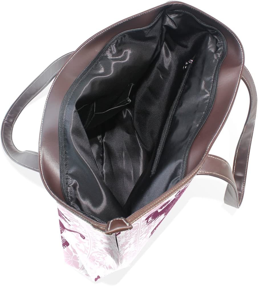 Hippie Indian Elephant Mandala Womens Fashion Large Tote Ladies Handbag Shoulder Bag