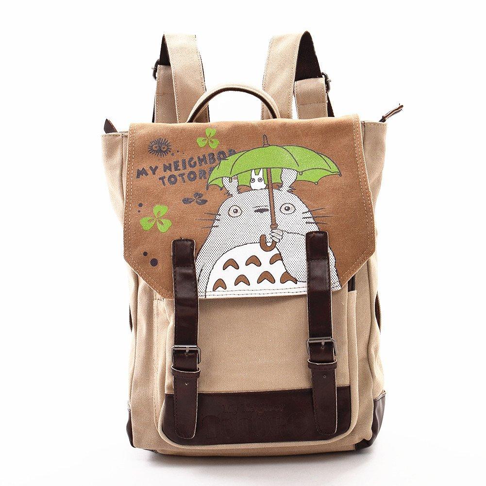 Anime My Neighbor Totoro Backpack Cosplay Canvas Bookbag Rucksack School Shoulder Bag Double Villages