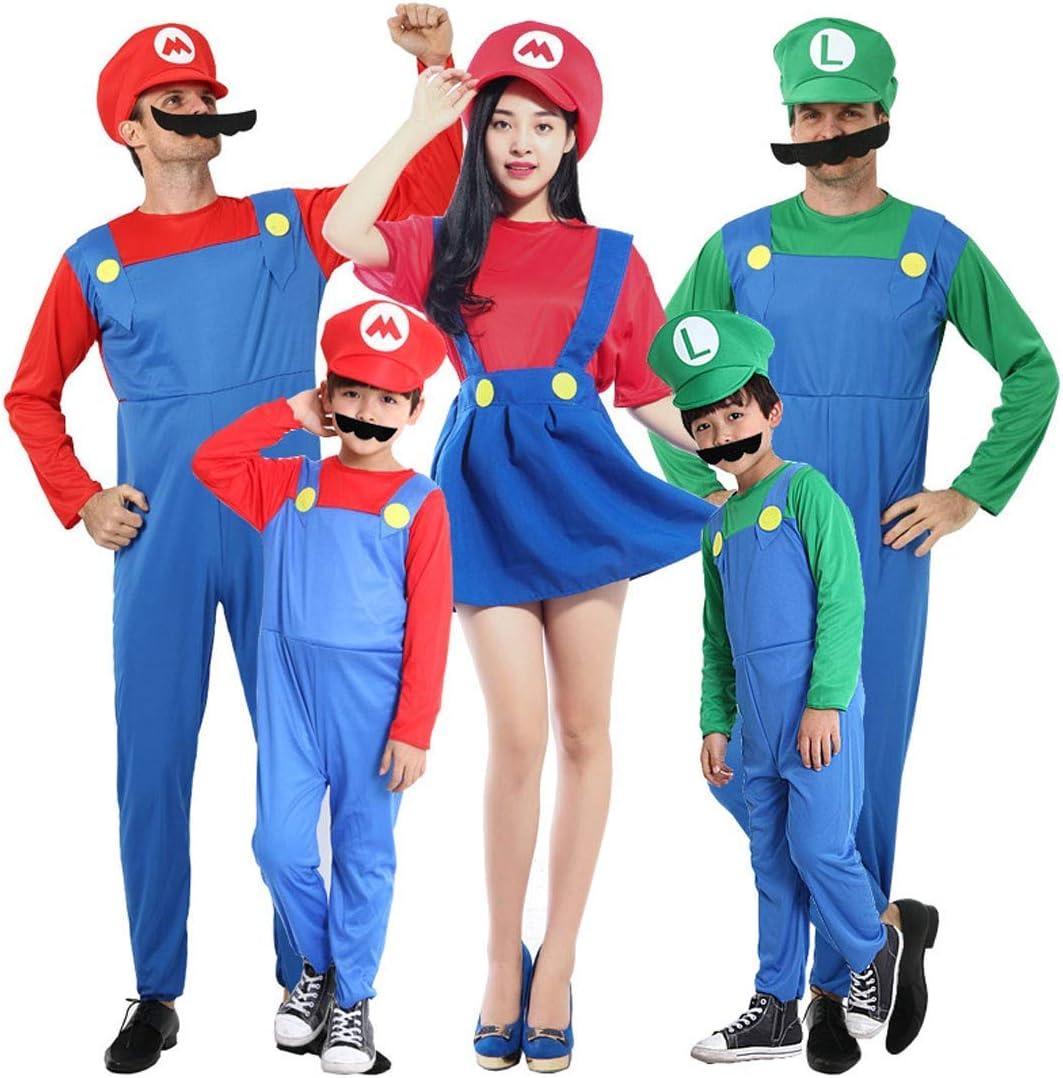 Super Mario Luigi Wario Disfraz de Halloween, Disfraces de ...