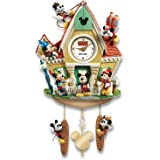 The Bradford Exchange Disney Mickey Mouse Through The Years Cuckoo Clock with Lights Music and Motion