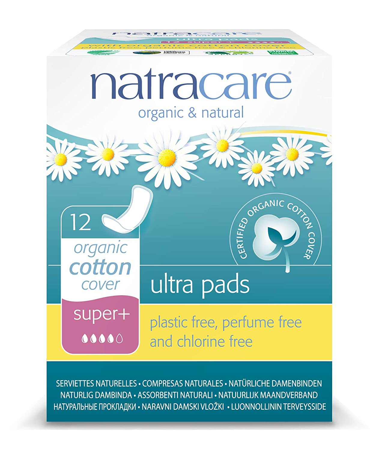 144 Pads Natracare Organic And Natural Ultra Pads Super Plus 12 x Packs of 12