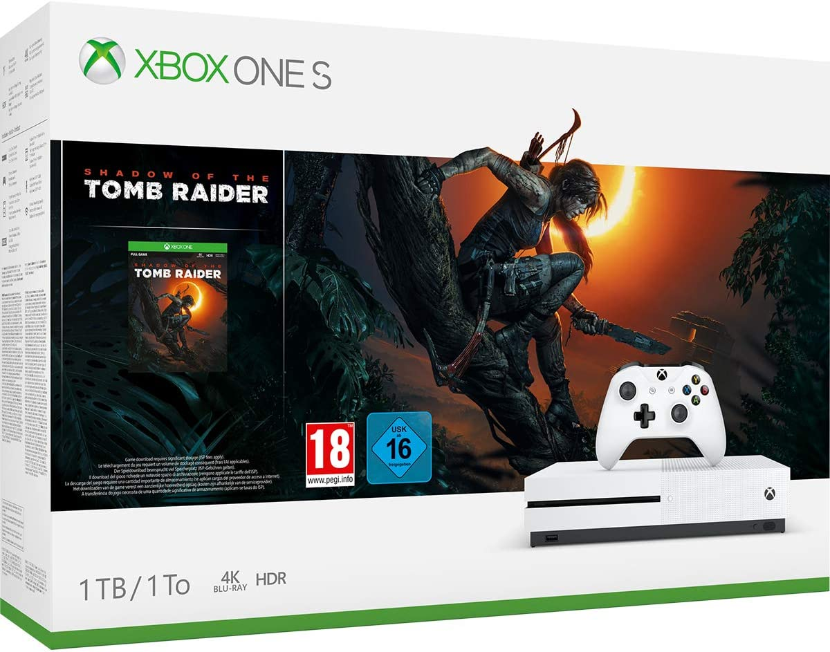 Xbox One S-Consola 1TB+Shadow Of The Tomb Raider: Microsoft ...