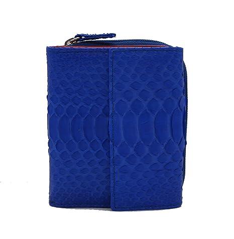 PIAMONTE, 606 cartera mujer pitón azul, edición limitada.