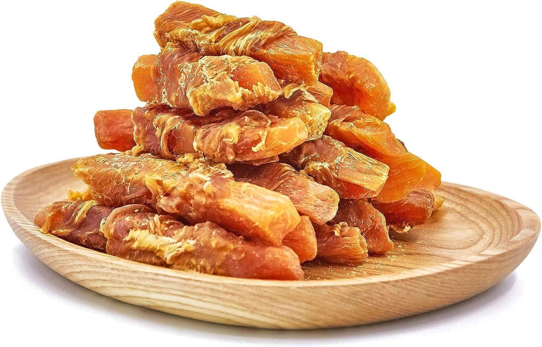 Jungle Calling Dog Treats, Chicken Wrapped Sweet Potato Snacks Chewy Skinless Bites, Gluten-Free Grain Free Treats,11oz