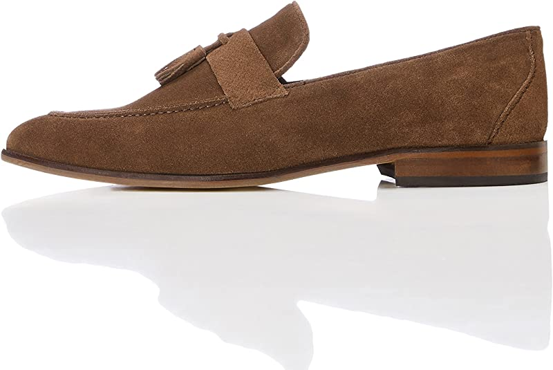 Loafers in Suede with Tassels