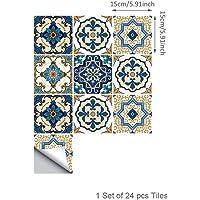 Topmail 24 Piezas Azulejos Adhesivos Suelo 15x15cm Azulejos