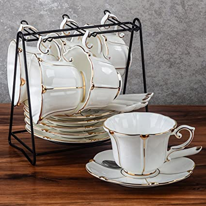 LY-coffee cup Taza y Taza de café de cerámica de Estilo Europeo Taza de