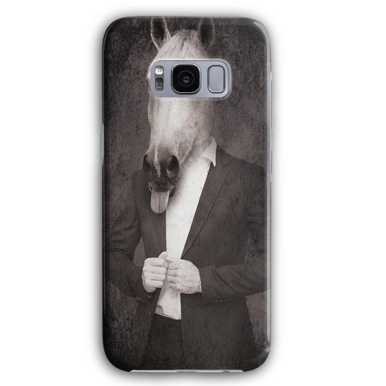 Caballo Traje corbata guay gracioso caballo Cara 3d s5 S6 S6 Edge ...