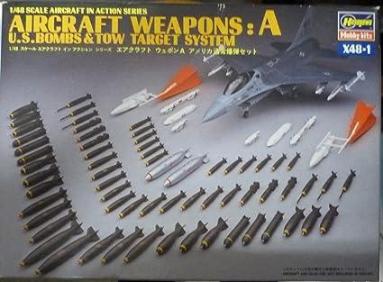 Amazon.com: Hasegawa 1: 48 Aviones Armas Que Una US bombas ...