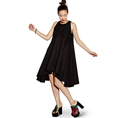 6723ac2ede2d47 Elliatt Women's 'Rhea' Sleeveless Trapeze Dress, Black, Small at ...