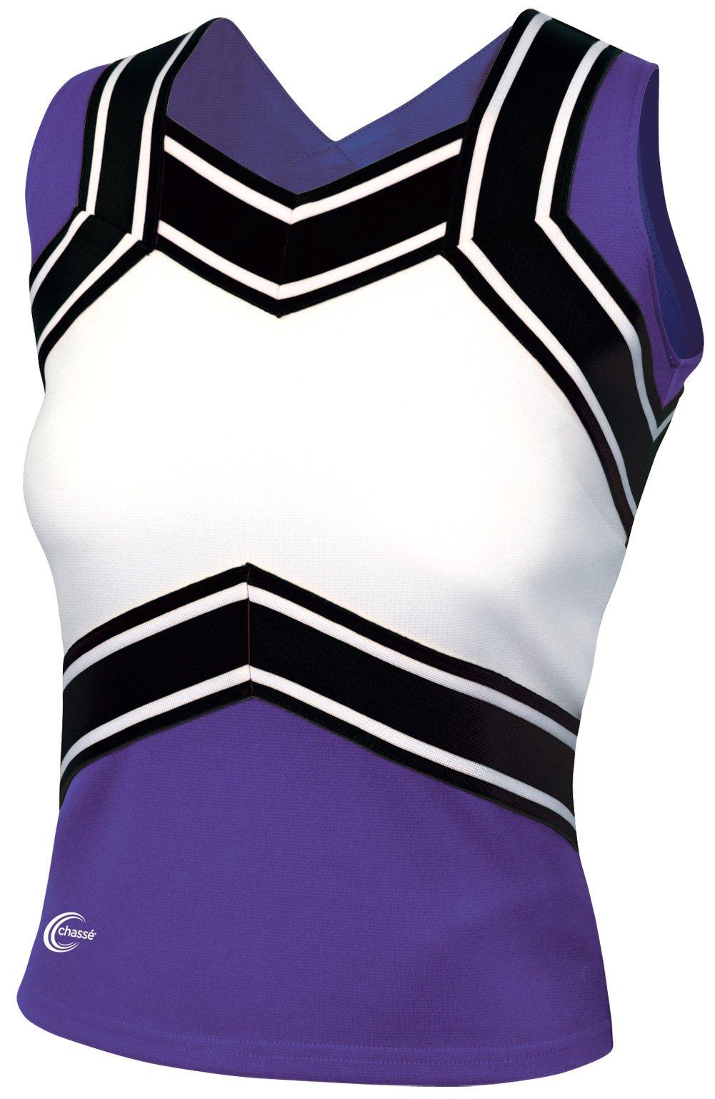 Chassé Girls' Blaze Shell Top Purple/White/Black Youth X-Small