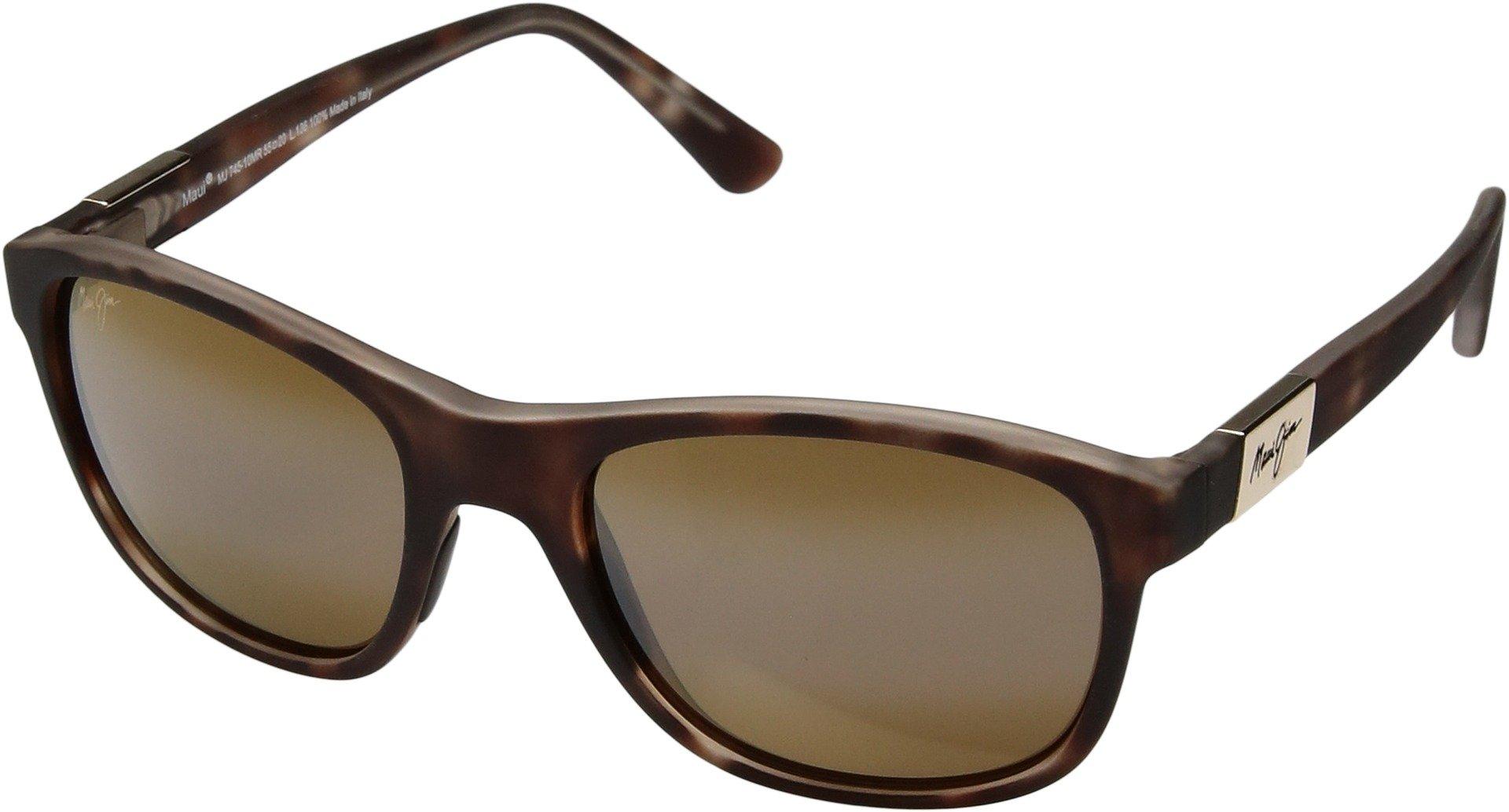Maui Jim Unisex Wakea Matte Tortoise Rubber/Hcl Bronze Sunglasses
