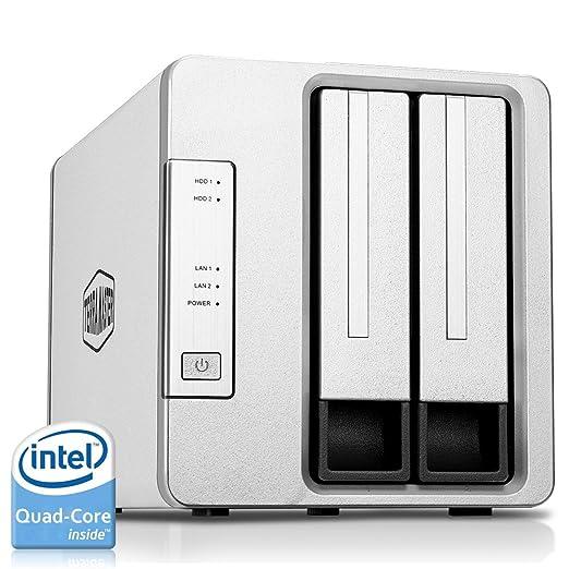 50 opinioni per TerraMaster F2-420 NAS Drive 2-Bay Intel Quad Core 2.0GHz 4GB RAM PLEX DLNA