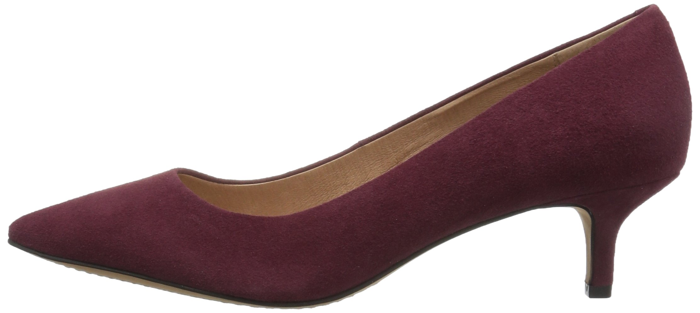 206 Collective Women's Queen Anne Kitten Heel Dress Pump, Burgundy, 8.5 B US by 206 Collective (Image #5)