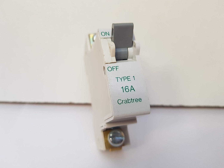 Crabtree SB6000 16A type 1 sp mcb, 610/16