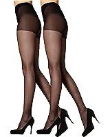 Pretty Legs 10 Denier High Sheen Nylons Tights (2 Pair Pack)