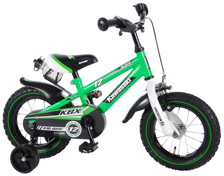 Kinder Fahrrad Kawasaki KBX 16 mit R/ücktrittbremse und Trinkflasche 95/% montiert