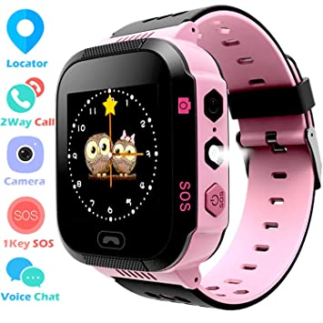 Niños Smartwatch - GPS/LBS Position Tracker Child SOS Help Relojes de Pulsera Cámara Digital Mobile Cell Phone Watch niños para niñas (GM9 Rosa)