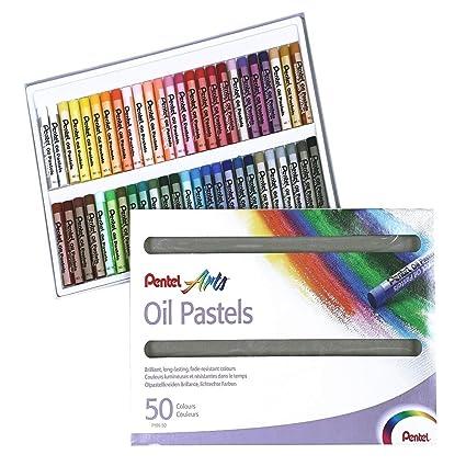 Pentel 100526 - Juego de ceras pastel al aceite (50 unidades ...