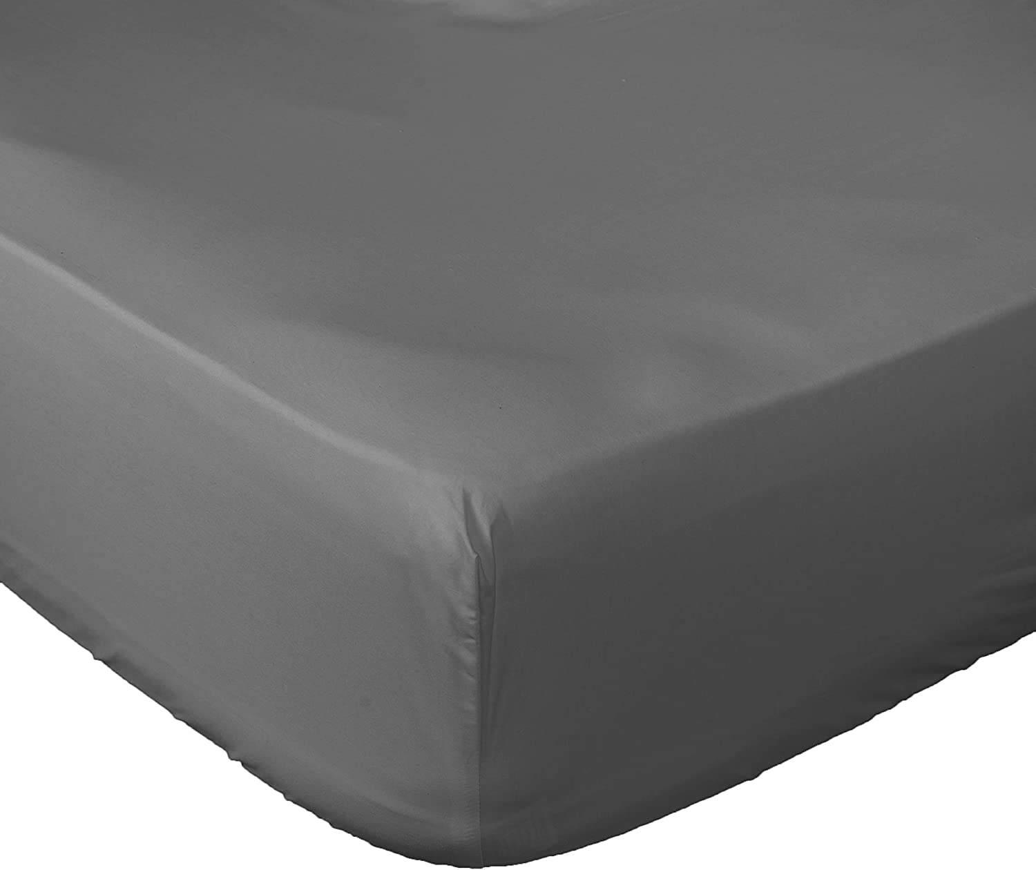 Lux Decor Collection Fitted Sheet Queen White Brushed Microfiber 1800 Bedding - Wrinkle, Fade, Stain Resistant - Hypoallergenic (Grey, Queen)