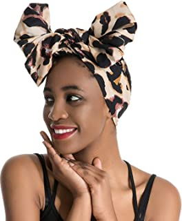 3f5e098b24a Women Turban Hat Head Wrap - Multi Colour Black African Jersey Magic ...