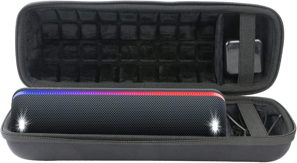 co2crea Hard Travel Case for Sony SRS-XB32 XB32 Extra Bass Portable Bluetooth Speaker Black Case