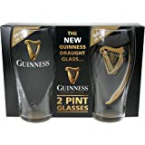 Guinness Embossed Gravity Pint Glass, 2 pack